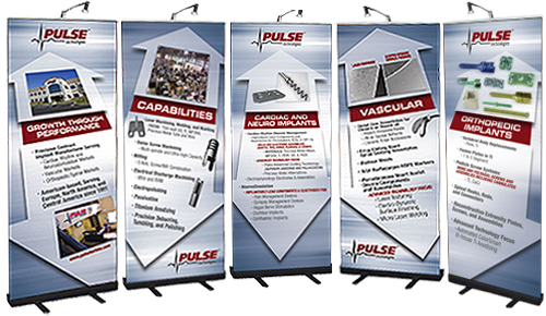 Trade Show Graphic for Pulse Technologies Designed by DDA