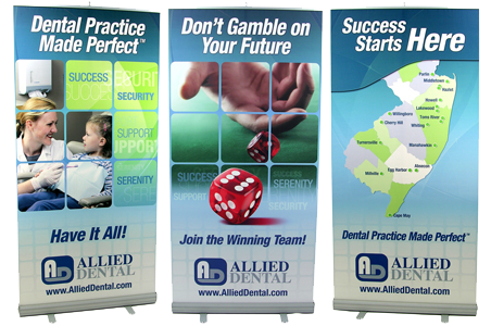 Trade Show Graphic for Allied Dental Designed by DDA